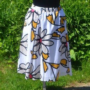 Lane Bryant 18/20 Floral A-Line Midi Skirt
